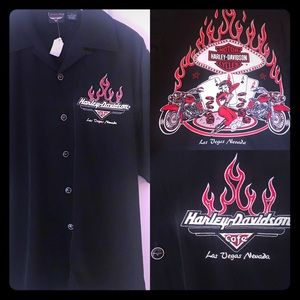 NWT Harley Davidson Las Vegas Hawaiian Style Shirt